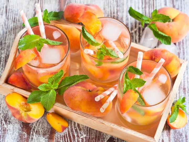 Stylish Summer Peach Tea Punch